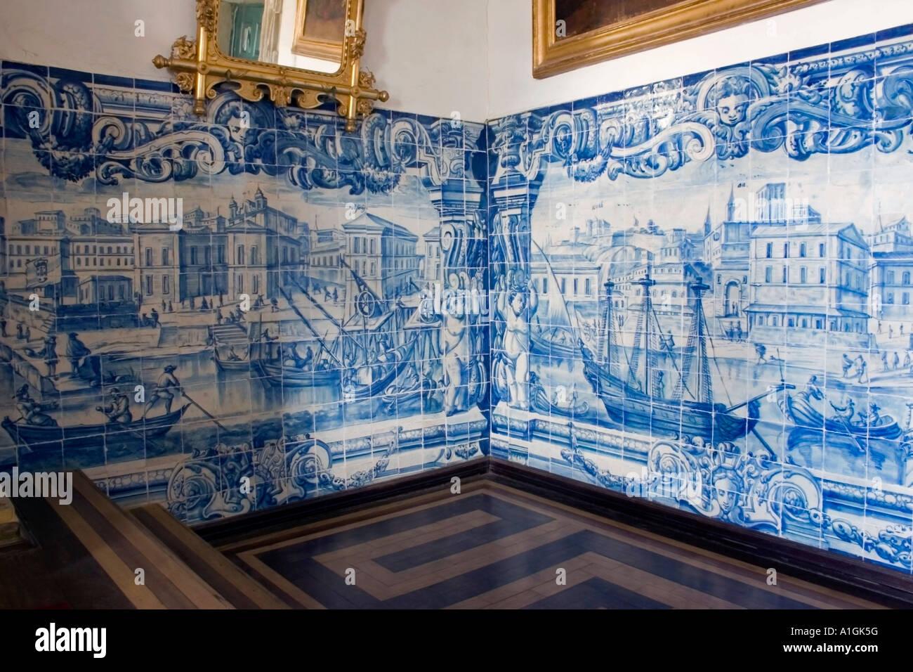 portugiesische fliesen mit szenen von lissabon vor dem erdbeben von 1755 ordem terceira de s. Black Bedroom Furniture Sets. Home Design Ideas