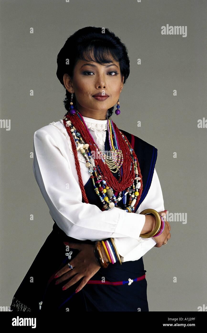South Asian indische Braut aus Nagaland North East India in der ...