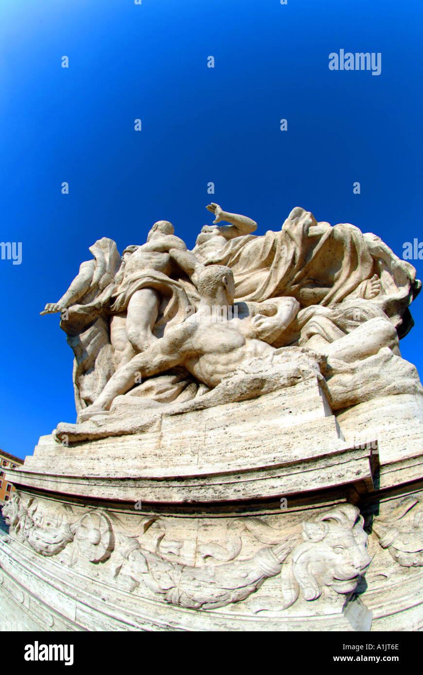 Brücke-Statue Rom Italien Stockfoto