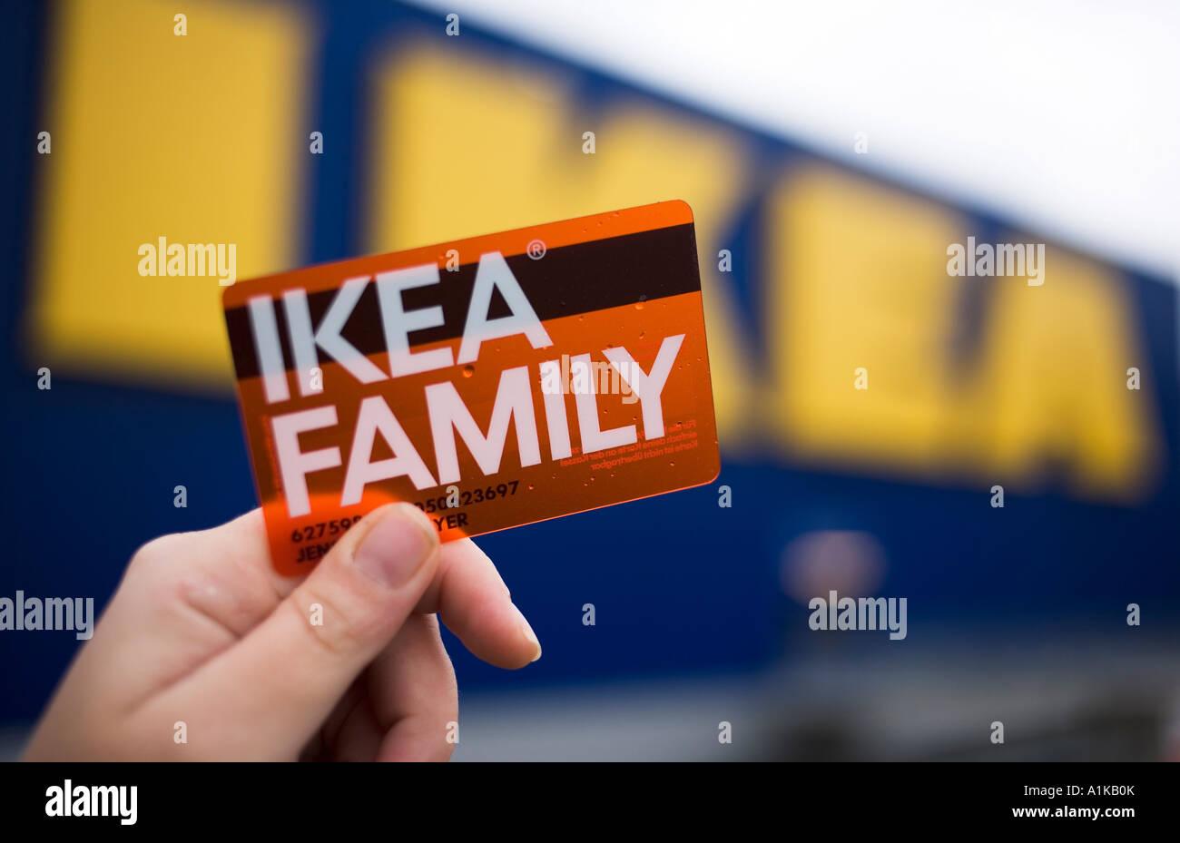 Neue Mitgliedskarte Für Ikea Family Mitglieder Stockfoto Bild