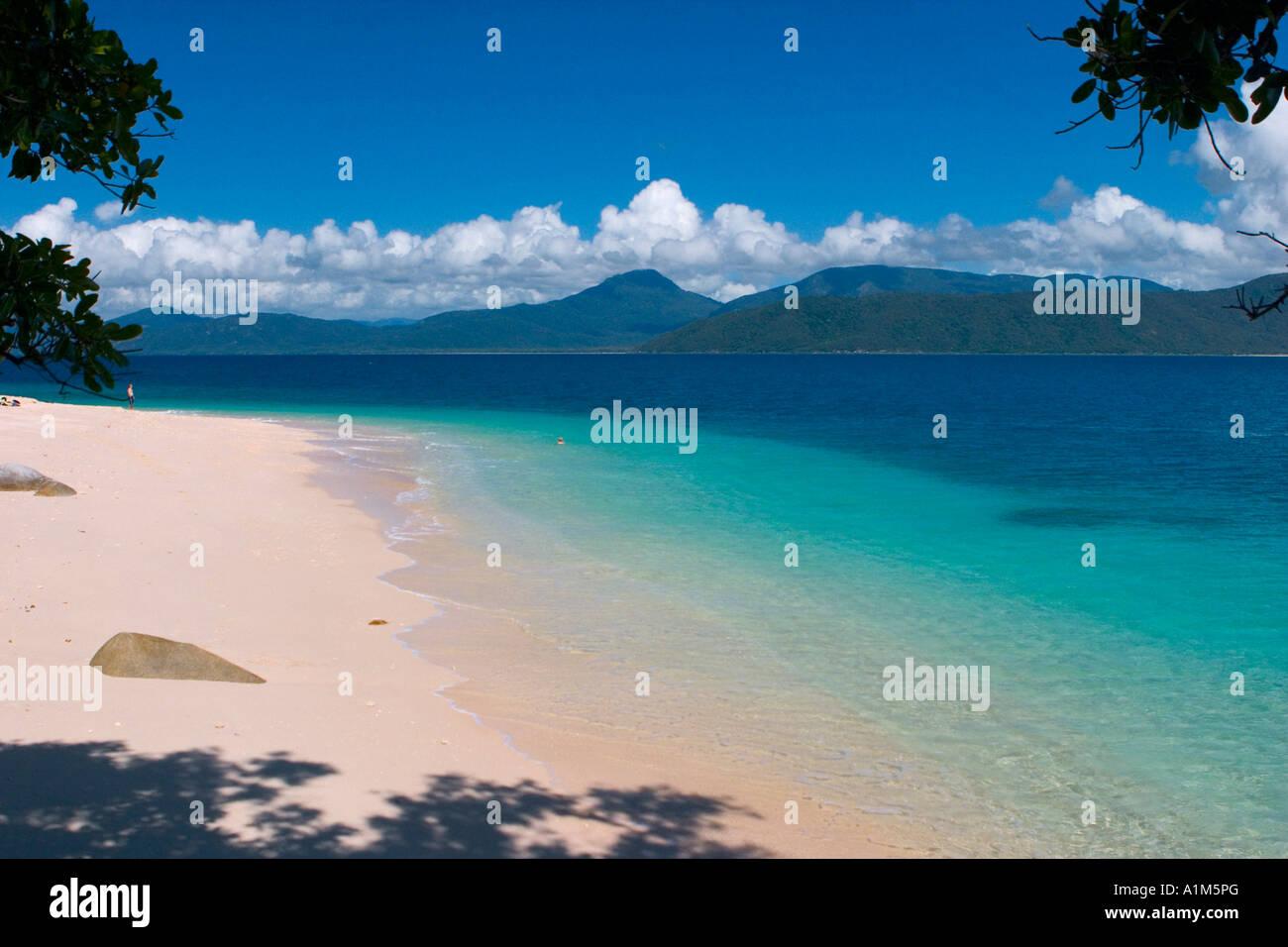Strand am Fitzroy Island, Queensland, Australien Stockbild