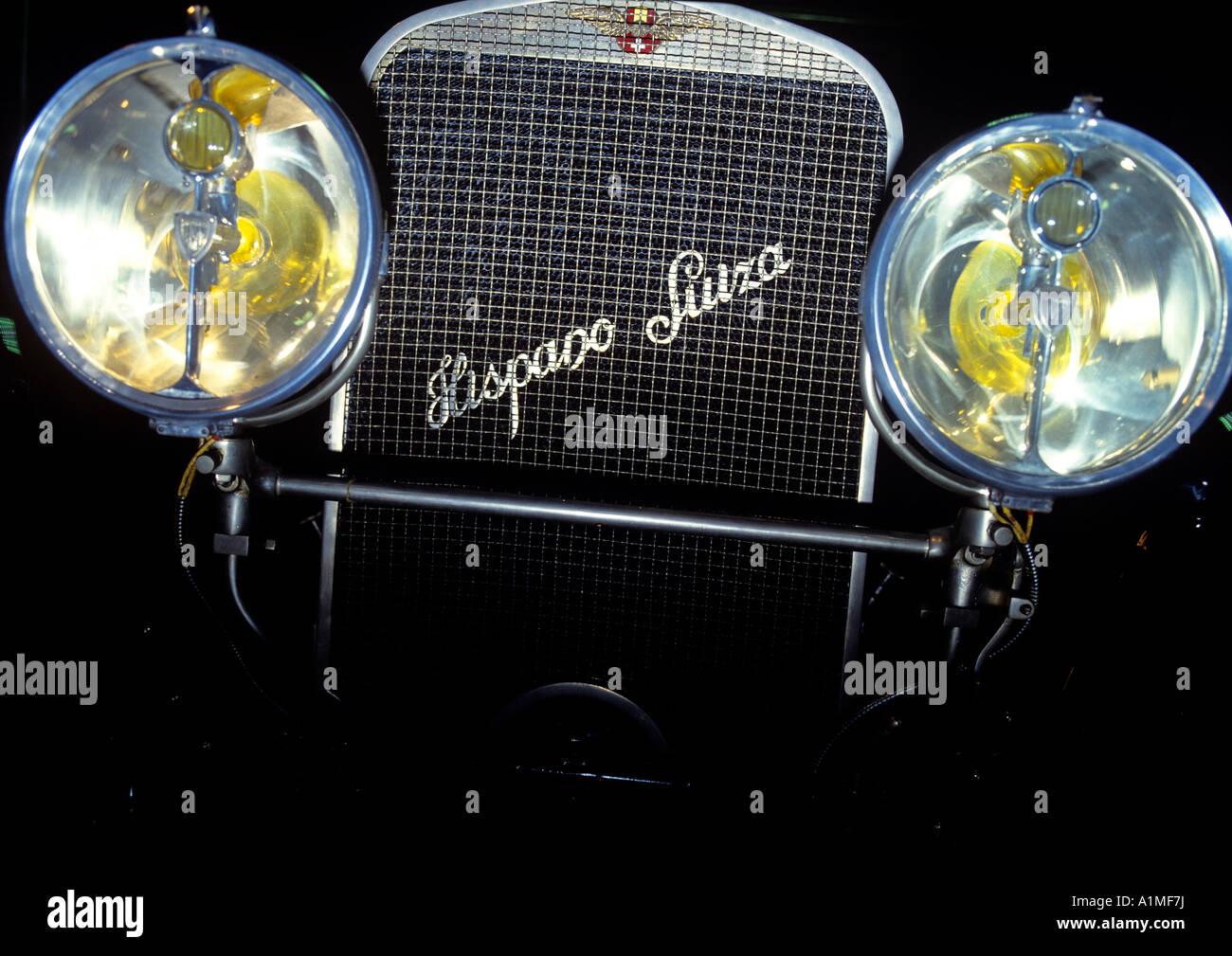 Vorderansicht des Hispano-Suiza Oldtimer Automobil Spanien Schweiz redaktionelle verwenden nur Stockbild