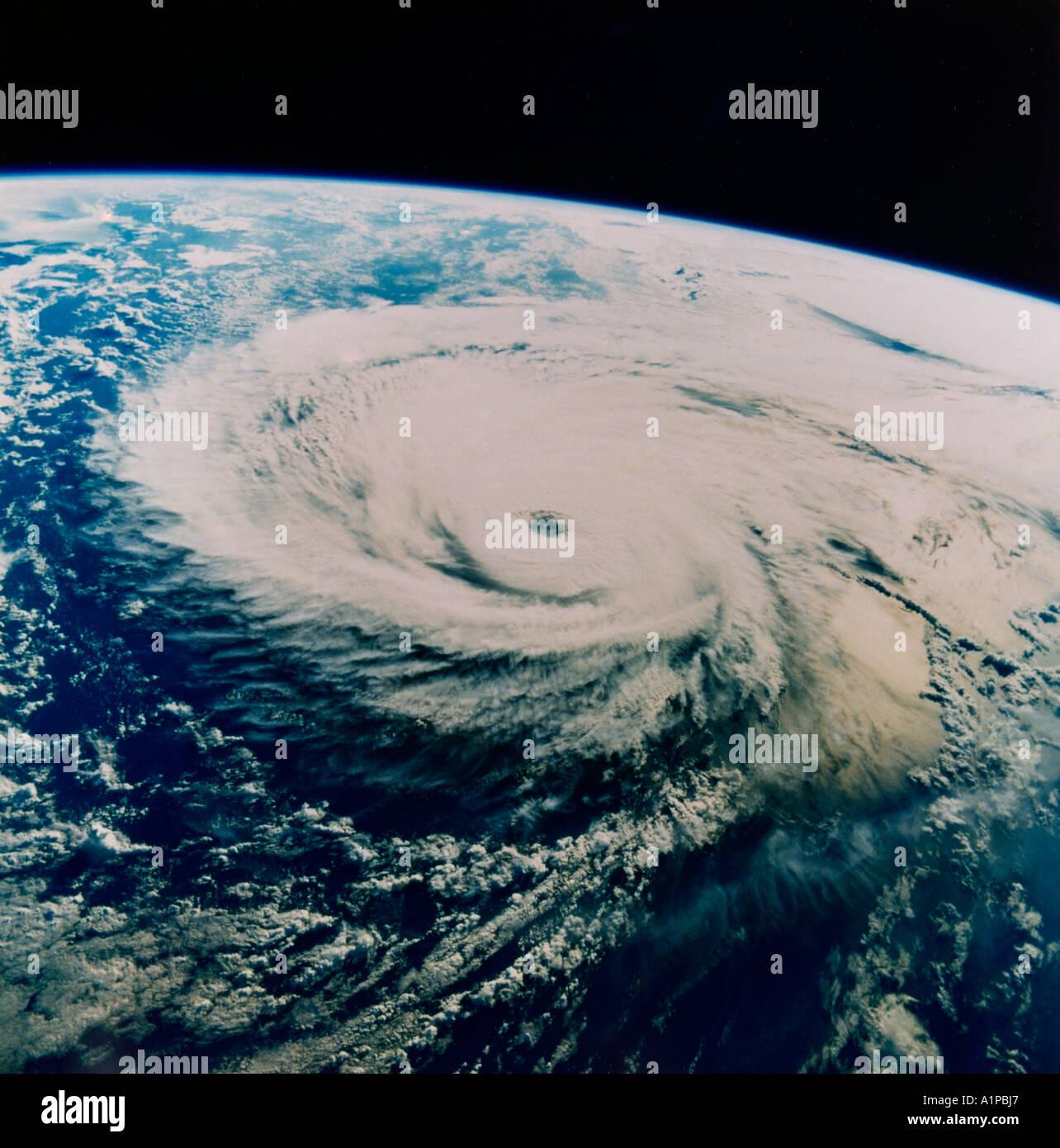 Hurricane aus dem Weltraum Stockbild