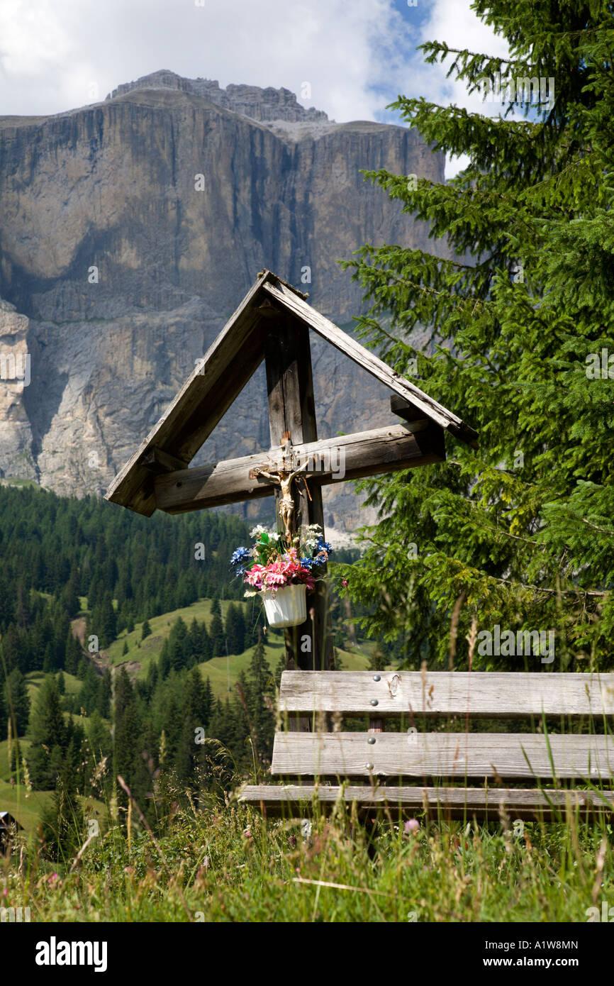 Bildstock, Giau Pass, Dolomiten, Italien Stockbild