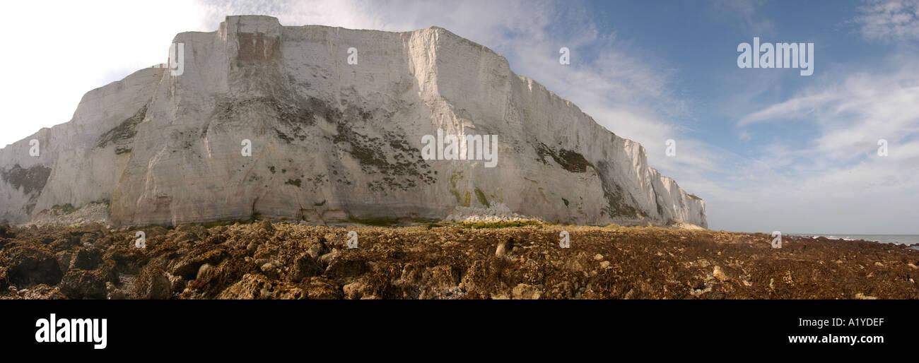 Dover Kreidefelsen England Panoramablick auf Klippe, Kreide, Sheer ...