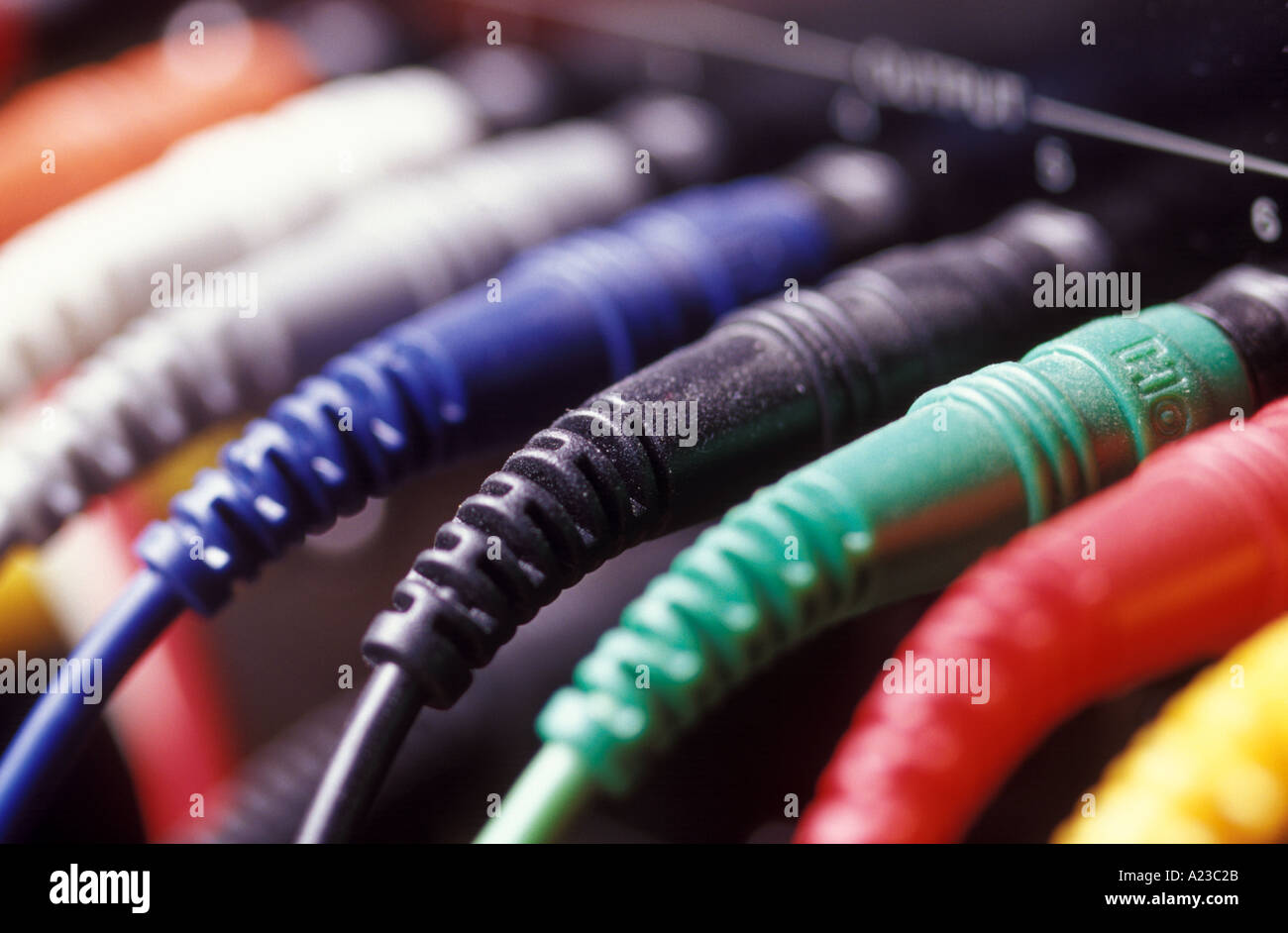 Farbige Elektrokabel coloured cable stockfotos coloured cable bilder alamy