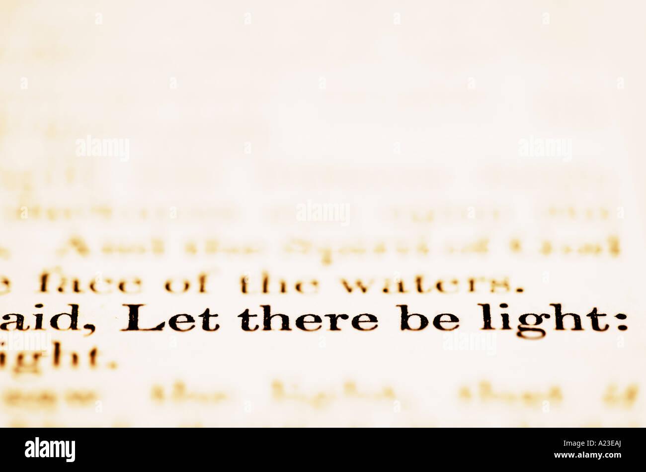 Es werde Licht Stockbild