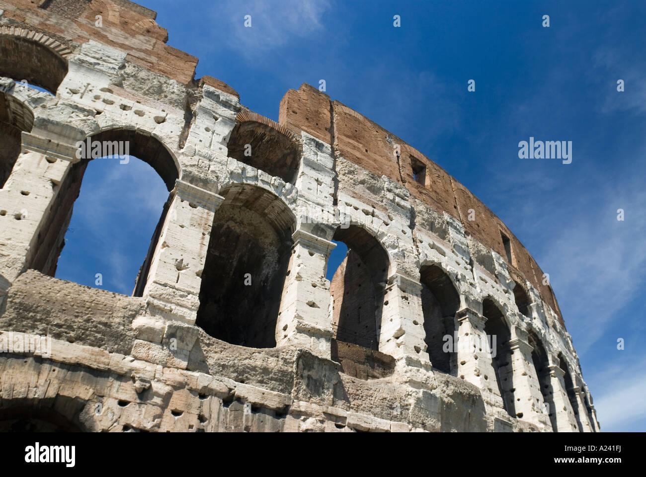 Rom, Italien. Das Kolosseum von Kaiser Vespasian 72 n. Chr. begonnen. Stockbild
