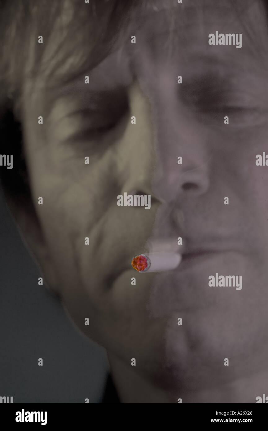 Mann Rauchen Zigarette Stockbild
