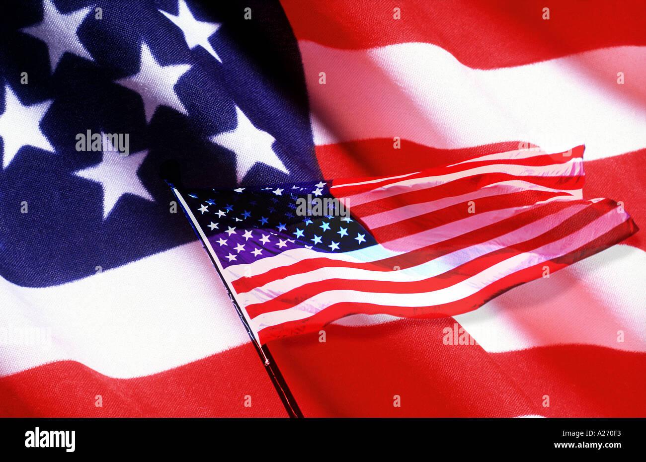 Sterne Streifen USA Flagge Konzept Stockbild