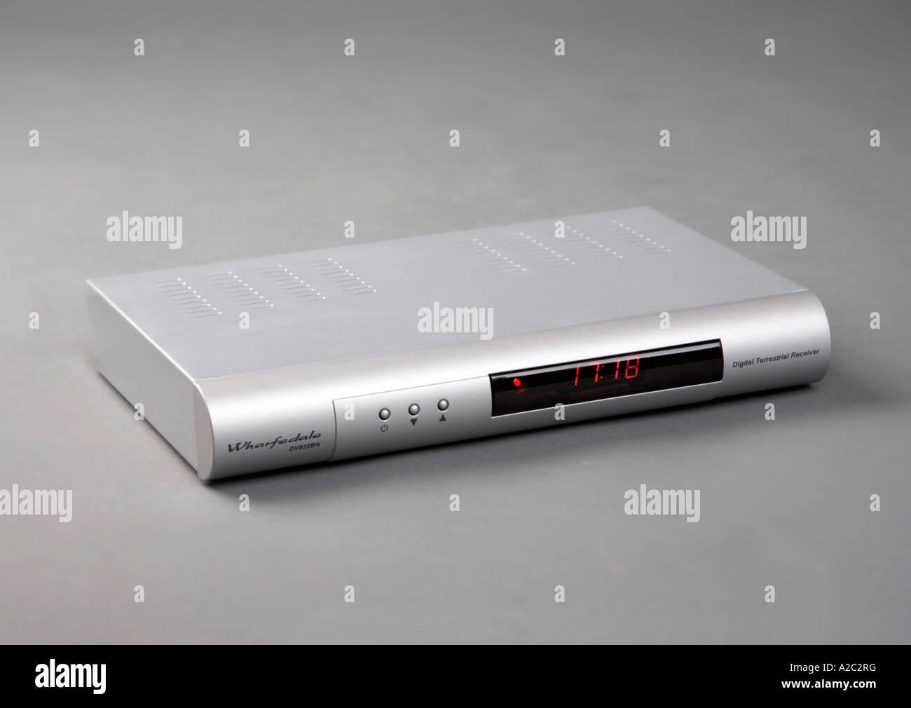 ein DVB-t digital TV Empfängerbox Stockbild