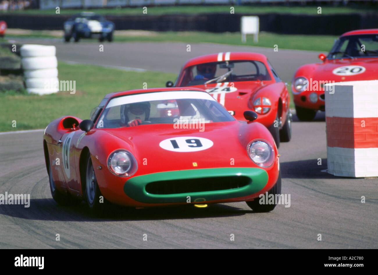 1998 beim Goodwood Revival meeting 1964 Ferrari 275LM Stockbild