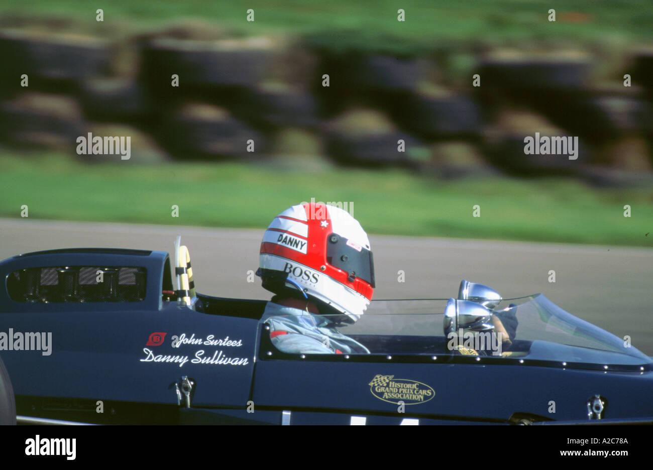 Danny Sullivan 1998 Goodwood Revival meeting Stockbild