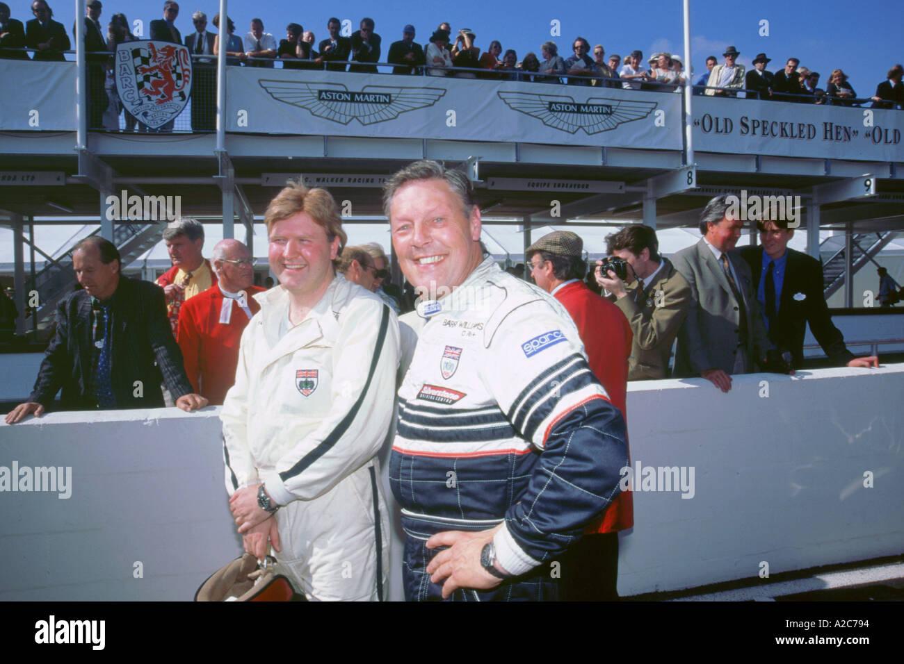Rennfahrer Barry Williams Stockbild