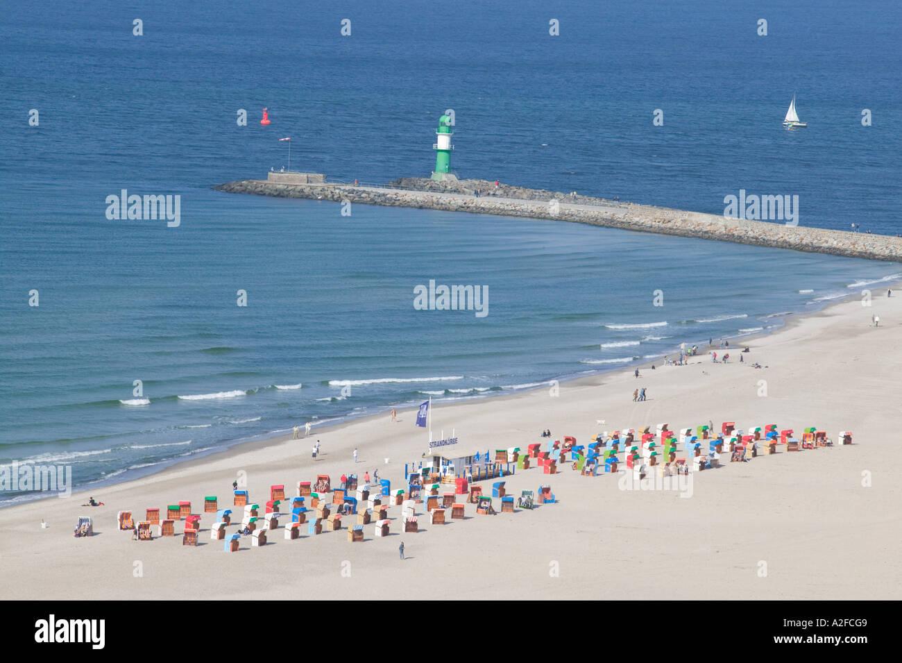 Warnemünde Strand Stockbild
