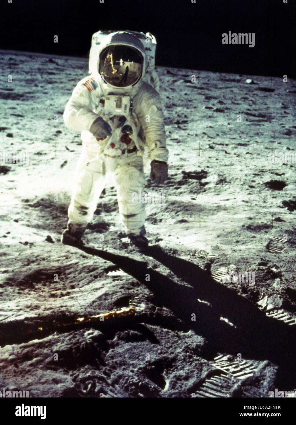 NEIL ARMSTRONG, US-amerikanischer Astronaut als Befehlshaber für die Apollo 11 Mondlandung am 20. Juli 1969 Stockfoto