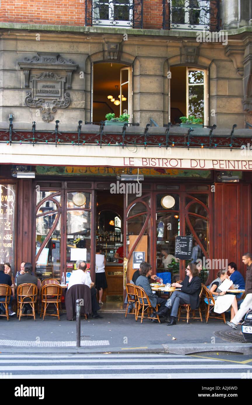 Le Bistrot Du Peintre Cafe Bar Terrasse Terrasse Draussen Sitzen Auf