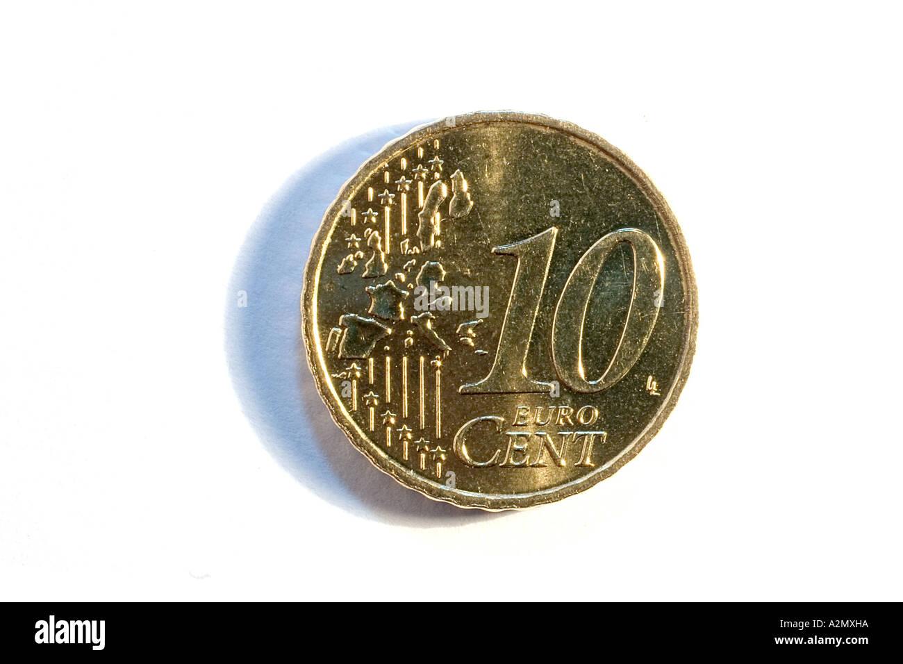 10 Cent Münze Stockfoto Bild 6033305 Alamy
