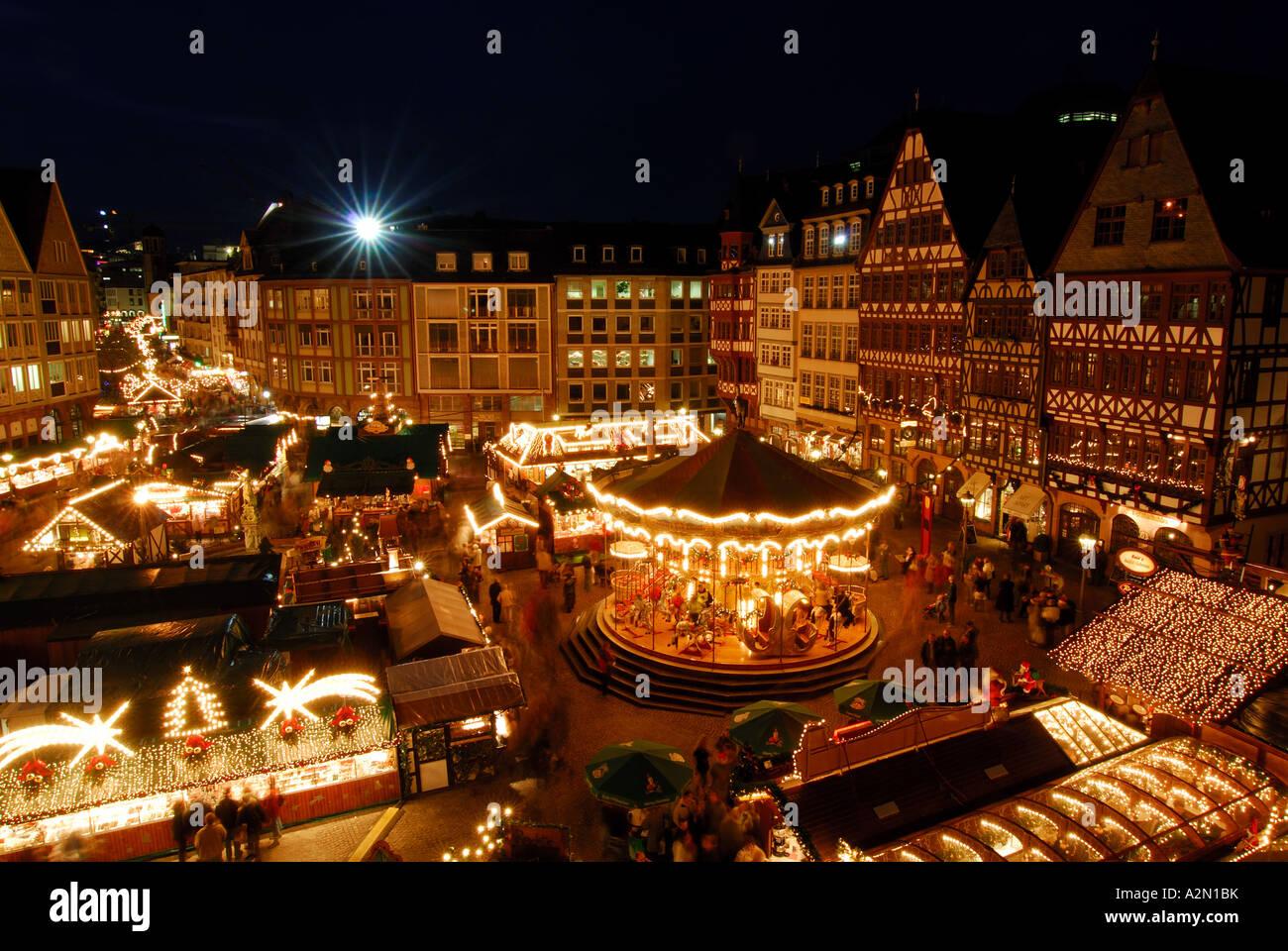 Weihnachtsmarkt Frankfurt Am Main.Weihnachtsmarkt Frankfurt Am Main Deutschland Stockfoto Bild