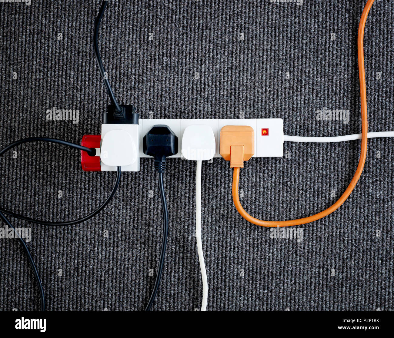 Elektrische Stecker Stockbild