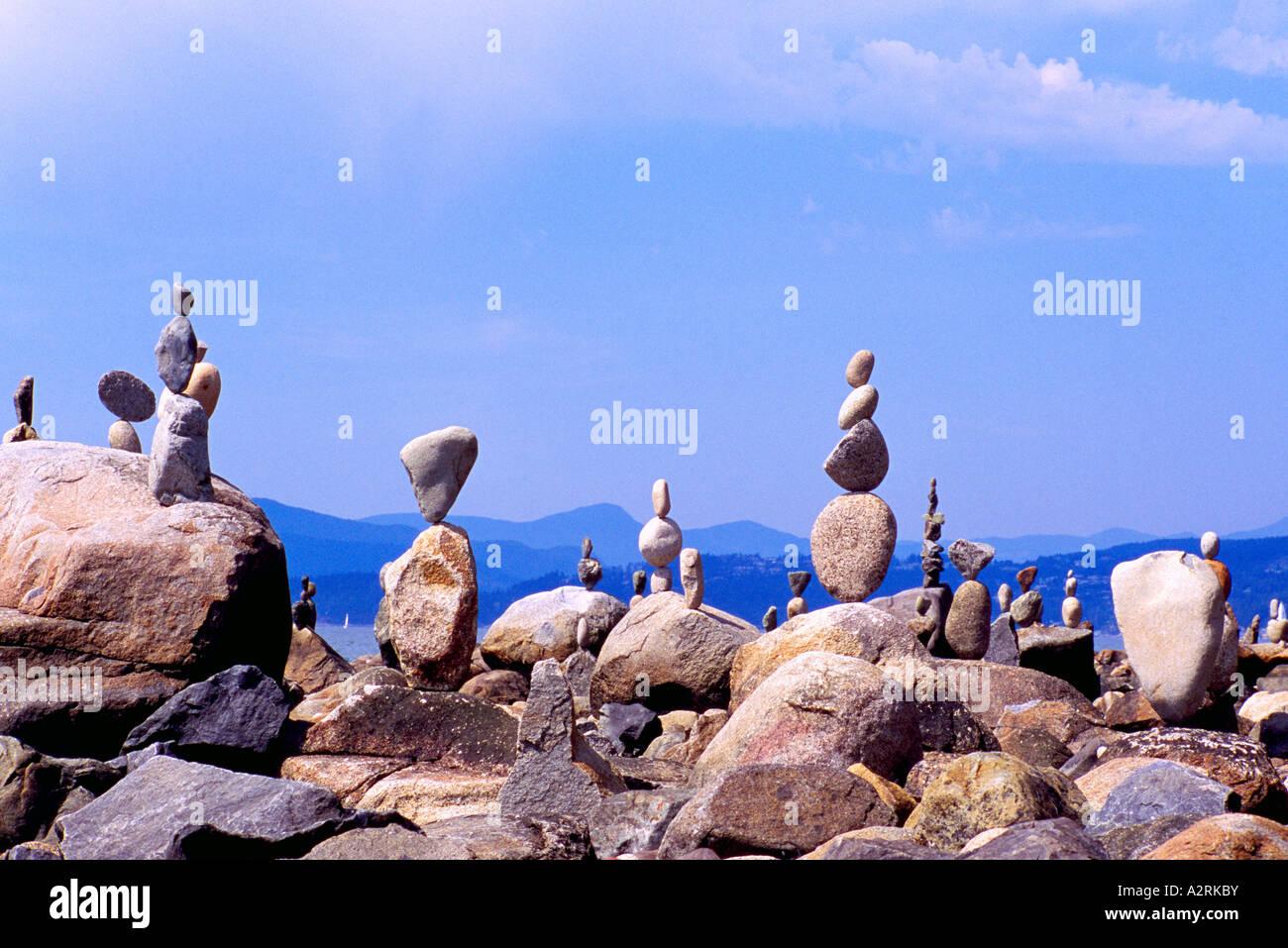 Viele Felsen ausgeglichen bis zur Perfektion - Balance-Konzept Stockfoto