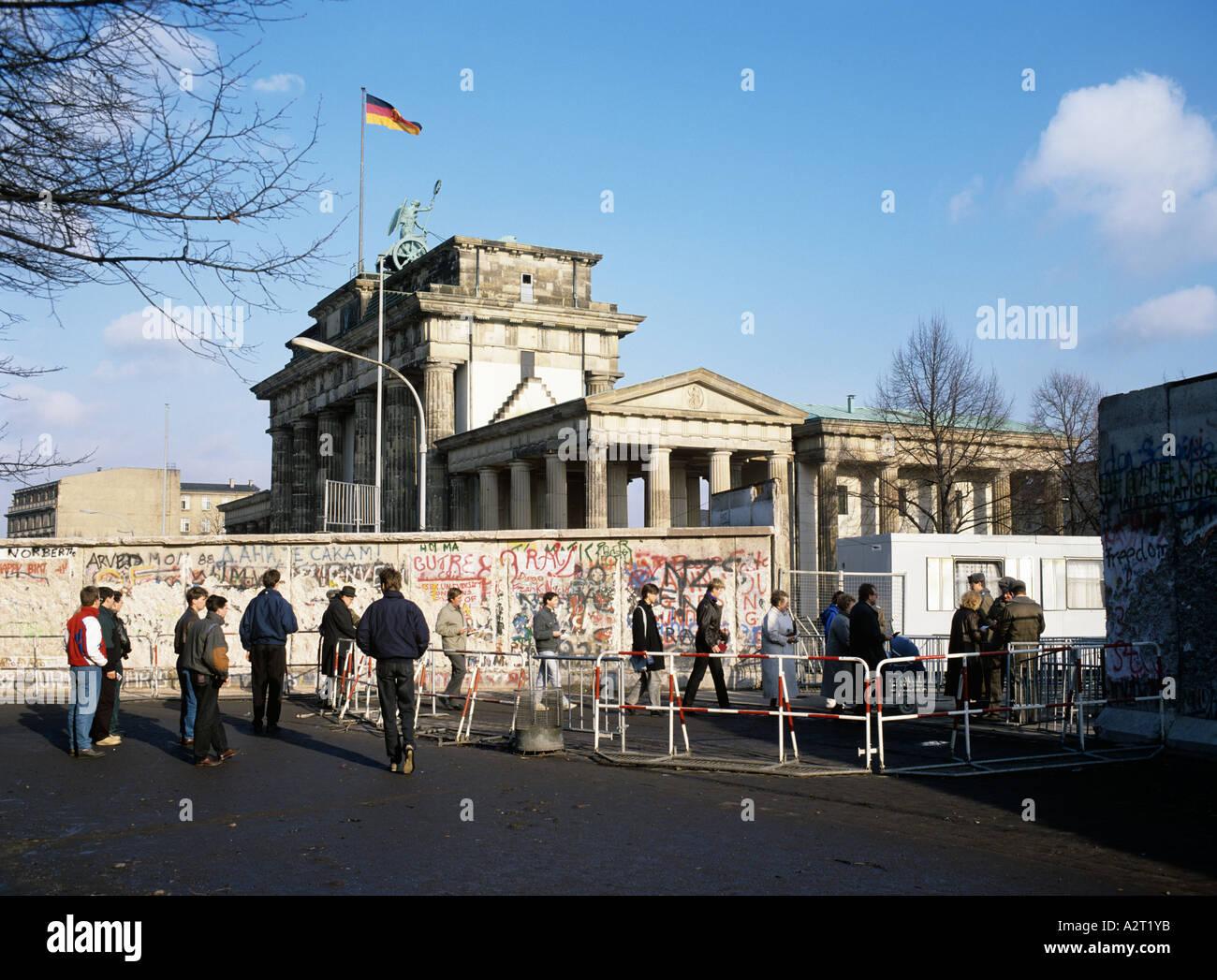 Europa Europa Deutschland Deutschland Berlin Mitte Brandenburger Tor Tor Berlin Berliner Mauer die Mauer Stockbild