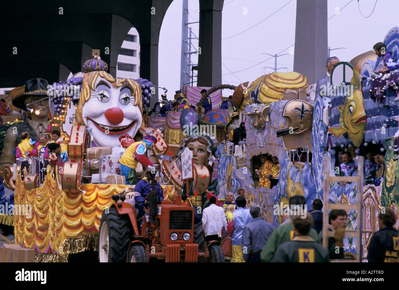 New Orleans Louisiana Karneval Stockbild