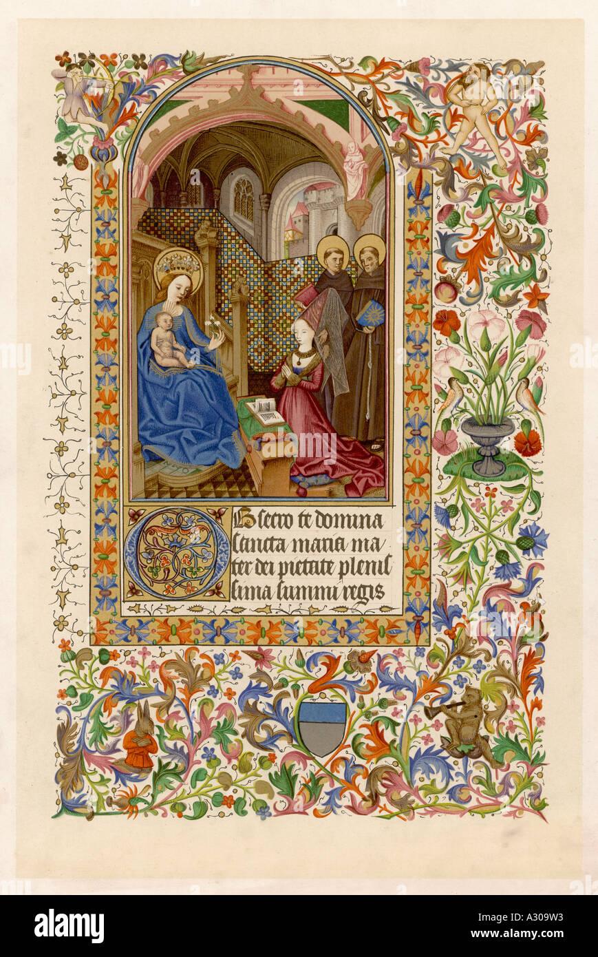 MS piemontesischen Buch Stockbild