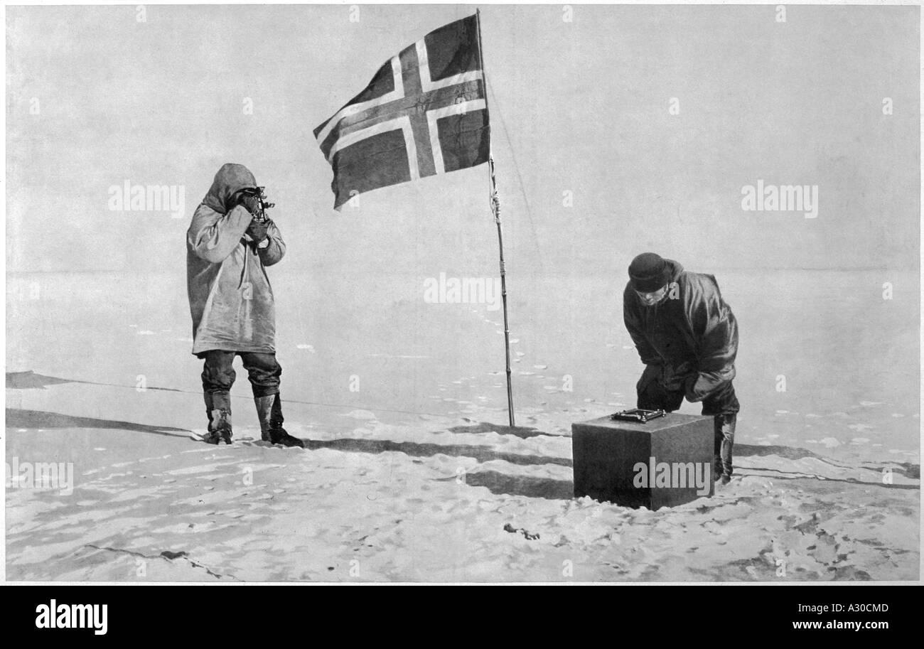 Amundsen unter Lager Stockbild