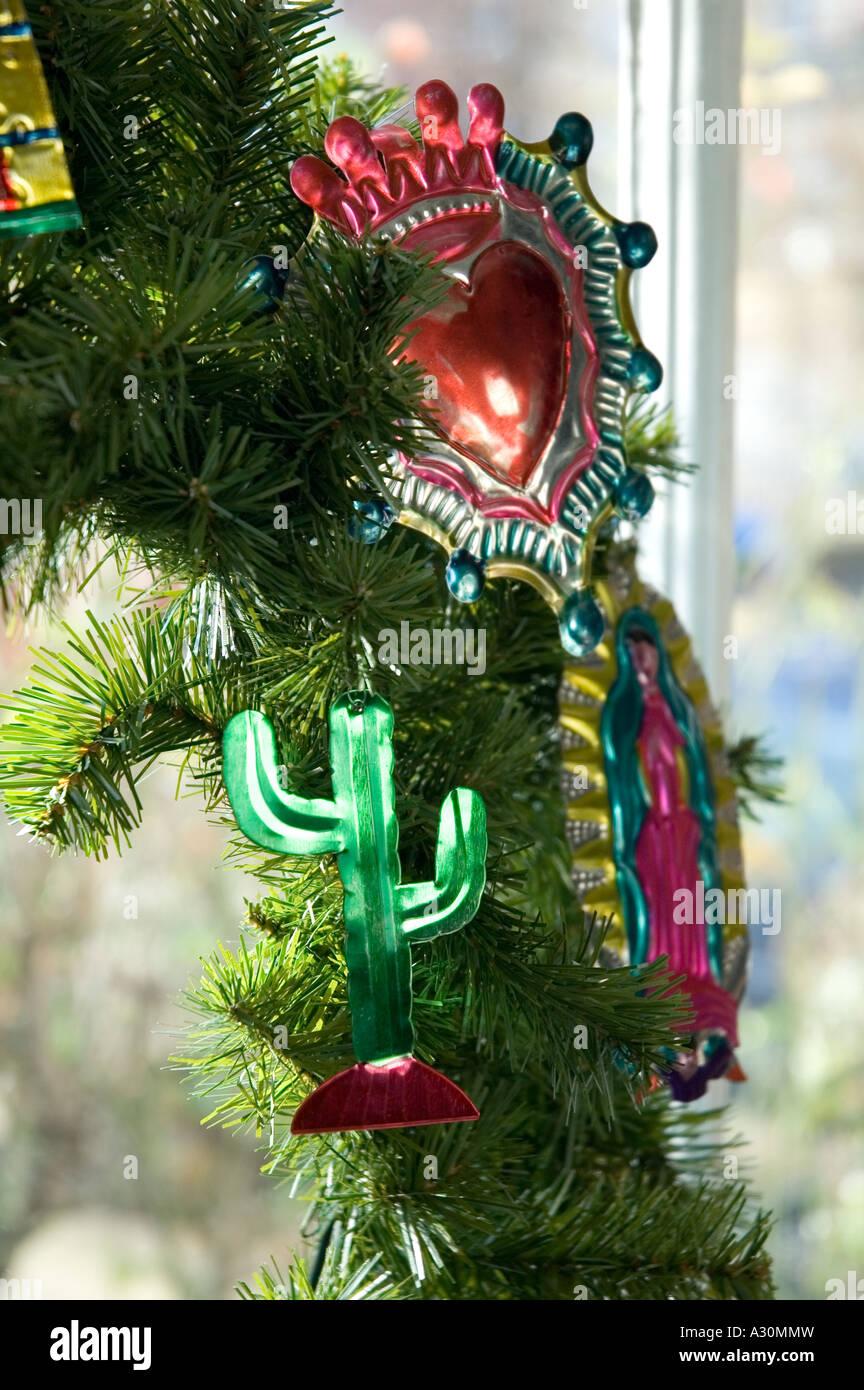 Weihnachtsdekoration im mexikanischen Stil Stockbild