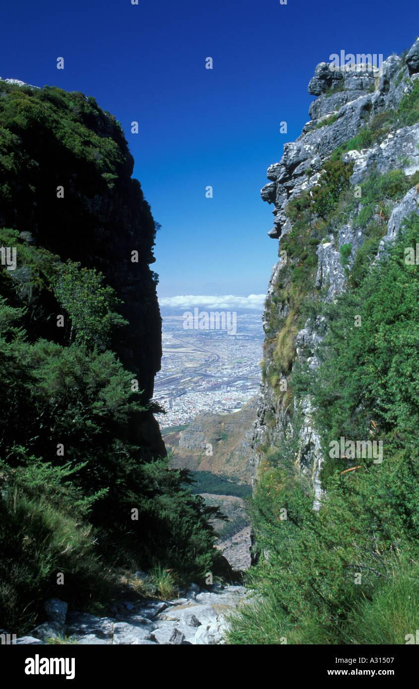 Platteklip Gorge Auf Dem Tafelberg In Sdafrika Stockfoto Bild Plasttekpp