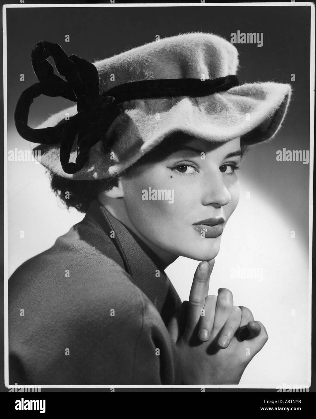 Mode der 1950er Jahre Hut Stockbild
