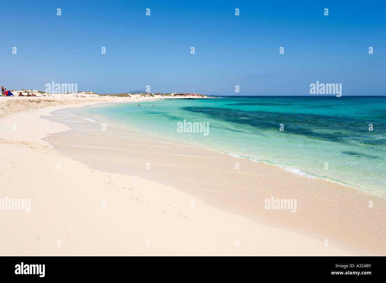 Strand und Dünen, Parque Natural de Corralejo, Fuerteventura, Kanarische Inseln, Spanien Stockbild