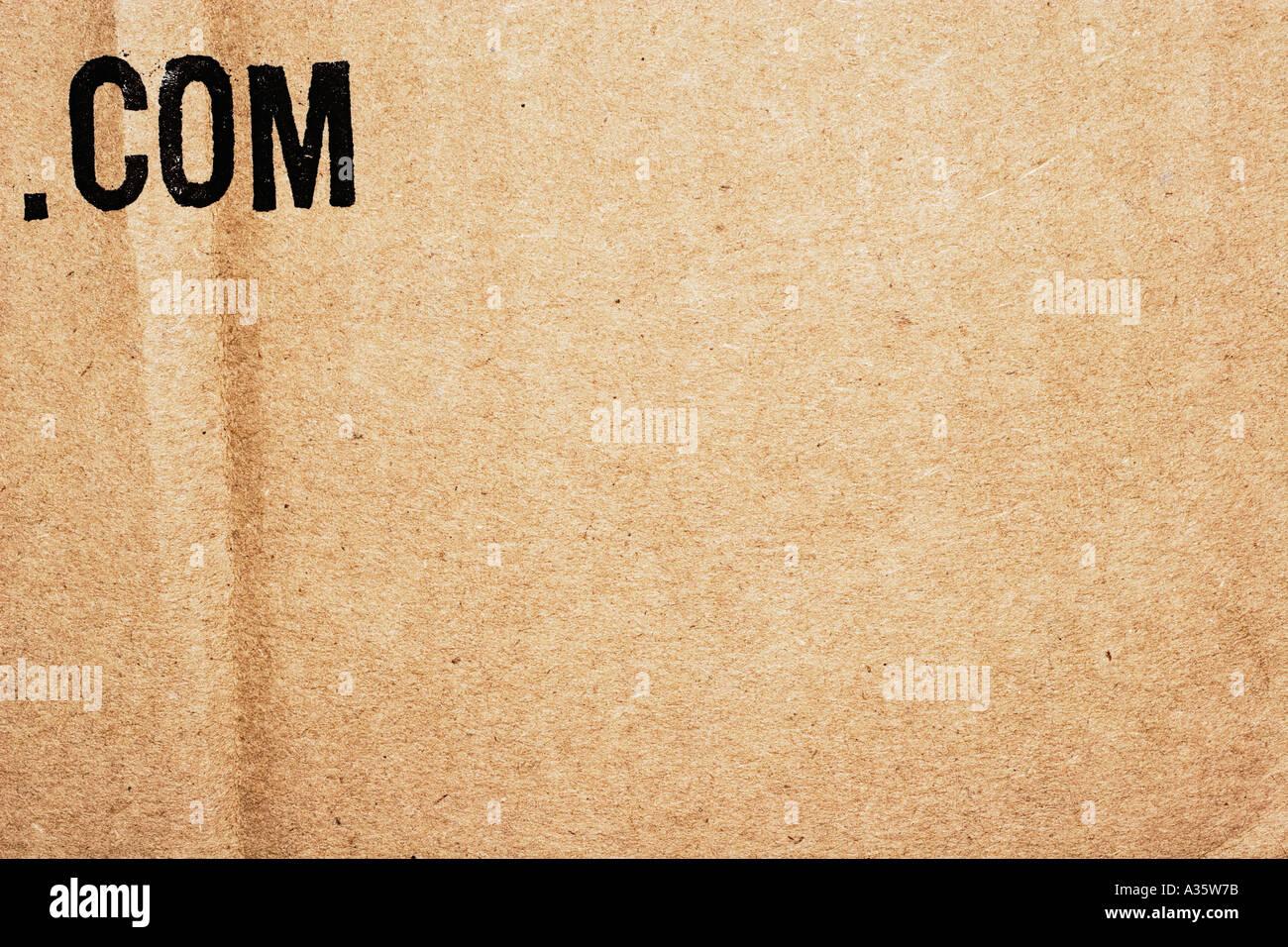 Urban Art Dot Com Buchstaben auf Karton Stockfoto, Bild ...