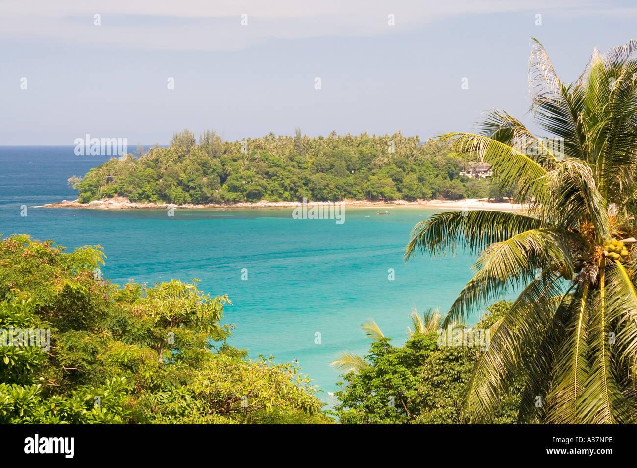 Phuket Ko Phu, grün, blau, Romantik, Ansicht, Strand, Strand, Stockbild