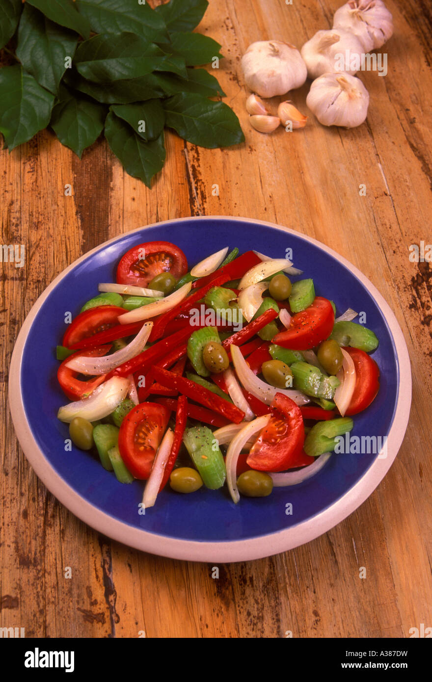 Salade Creole, kreolischer Salat, die französische Küche ...
