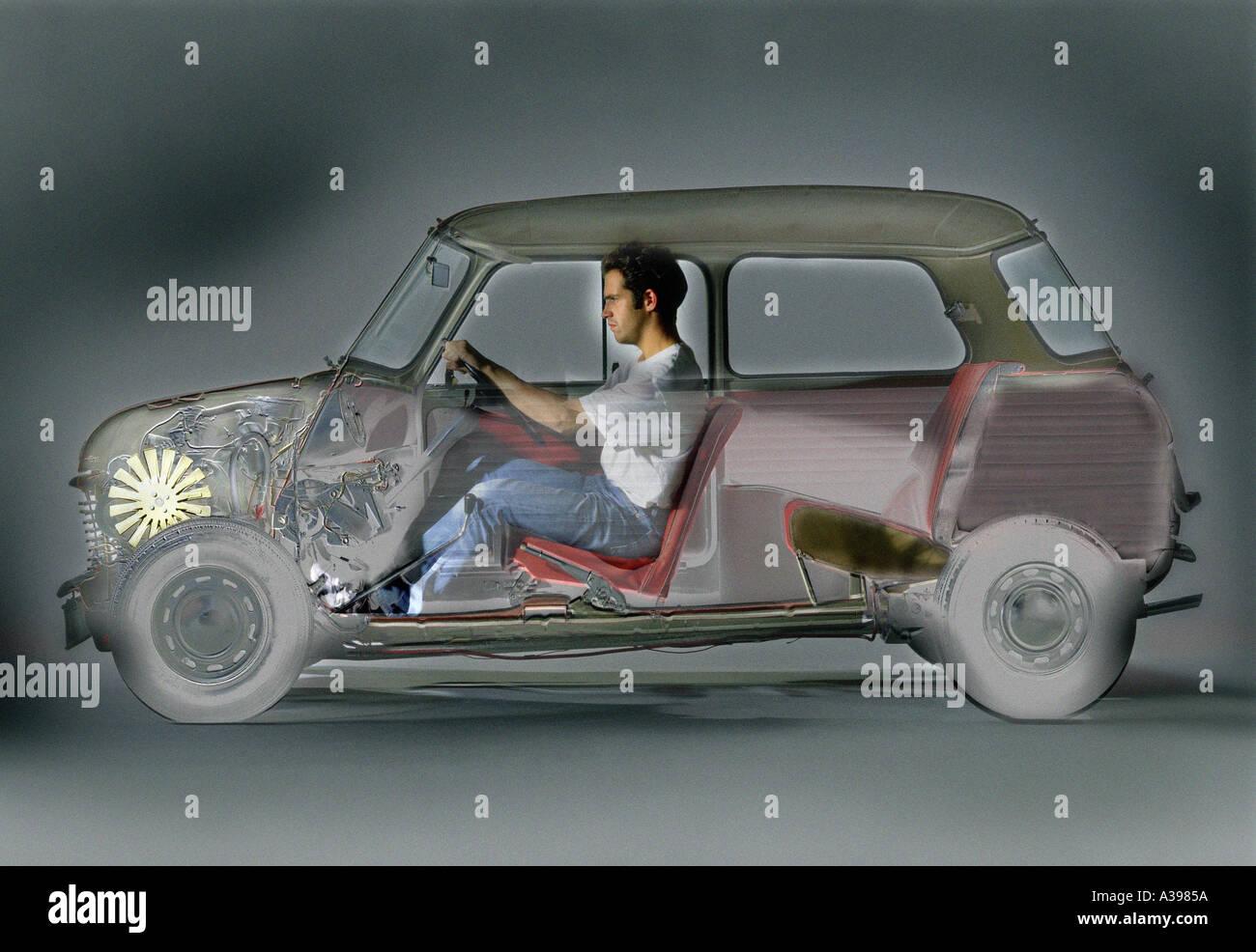 X-Ray Auto Stockbild