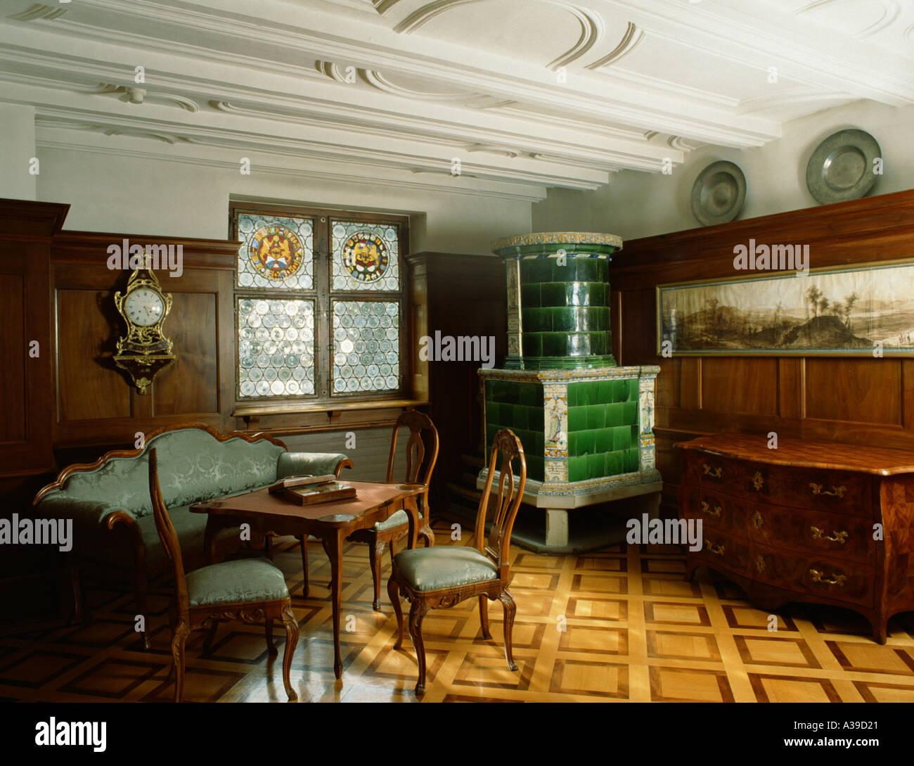 Wohnung Möbel Des 18 Jahrhunderts Wohn Museum Stadt Zürich Kantons