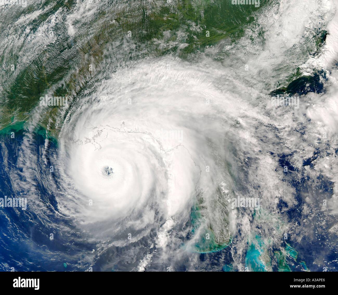 Hurrikan Ivan 09L aus südlichen Vereinigten Staaten Datum Mittwoch, 15. September 2004 Stockbild