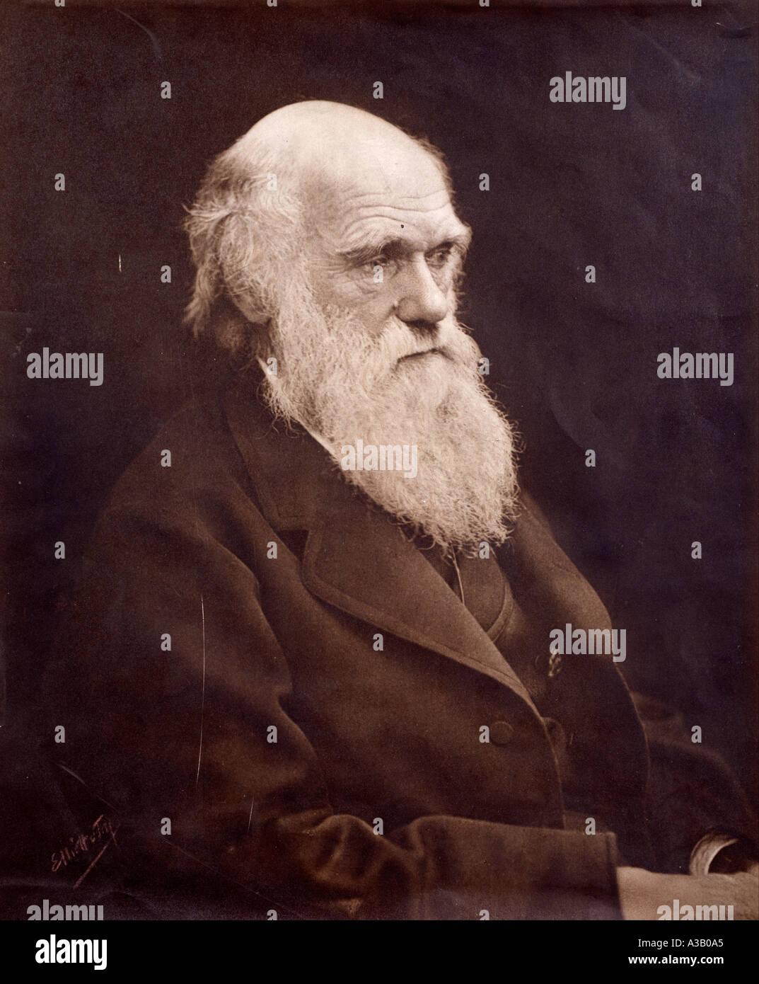 Charles Robert Darwin 1809 1882 Stockbild