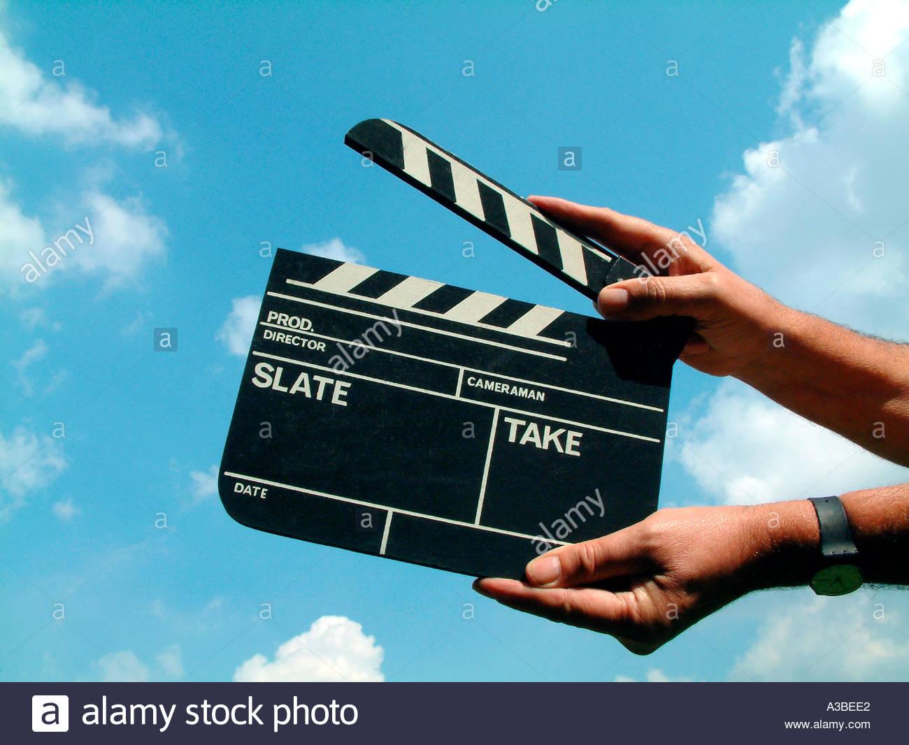 Clapper board Stockbild