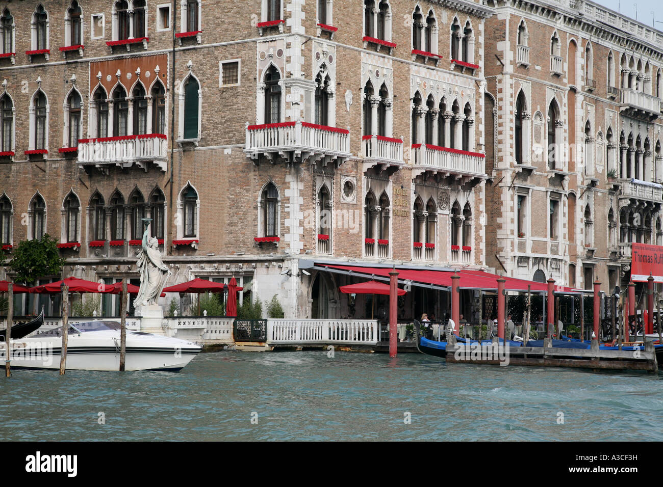 Hotel am Canal Grande in die Welten Nummer 1 touristische Destination Venedig Italien Stockbild