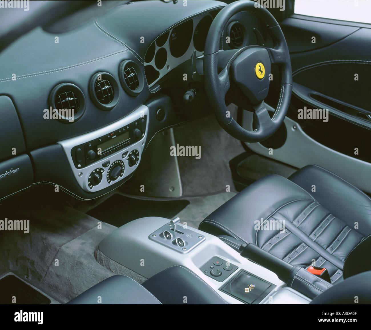 Ferrari 360 Modena Spider Innen 2001 Stockfotografie Alamy
