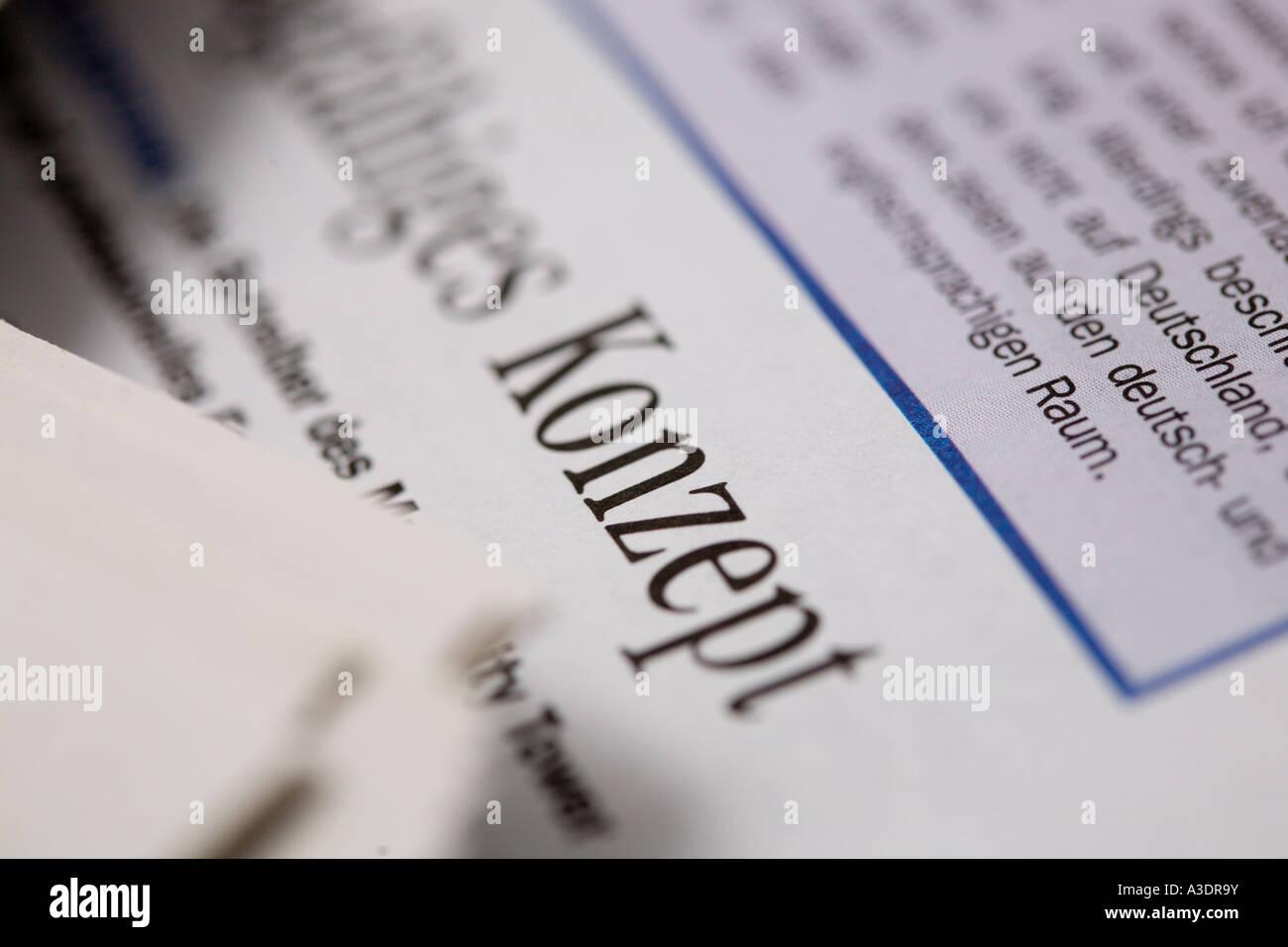 Press Clipping mit Konzept-Konzept mit dem Titel Stockbild