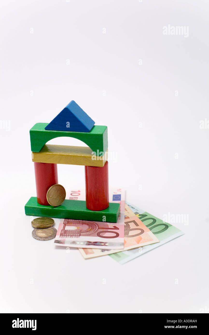 Symbol Fur Die Finanzierung Von Hausbau Stockfoto Bild 10754920
