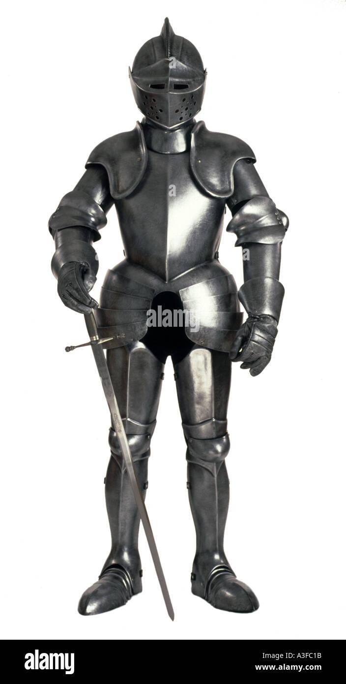 Ritter in glänzender Rüstung Stockbild