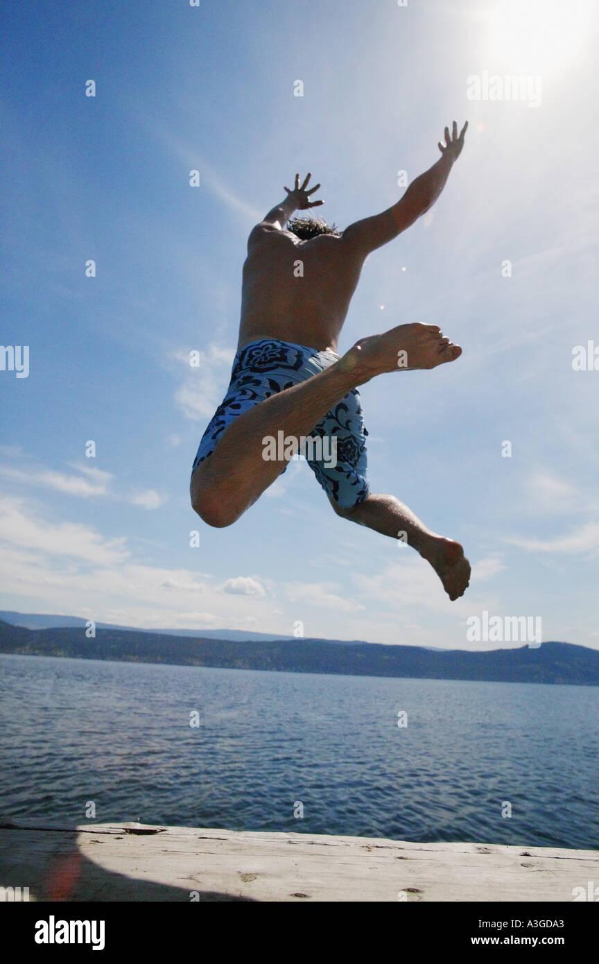 Sprung ins Wasser Stockfoto, Bild: 1985954 - Alamy