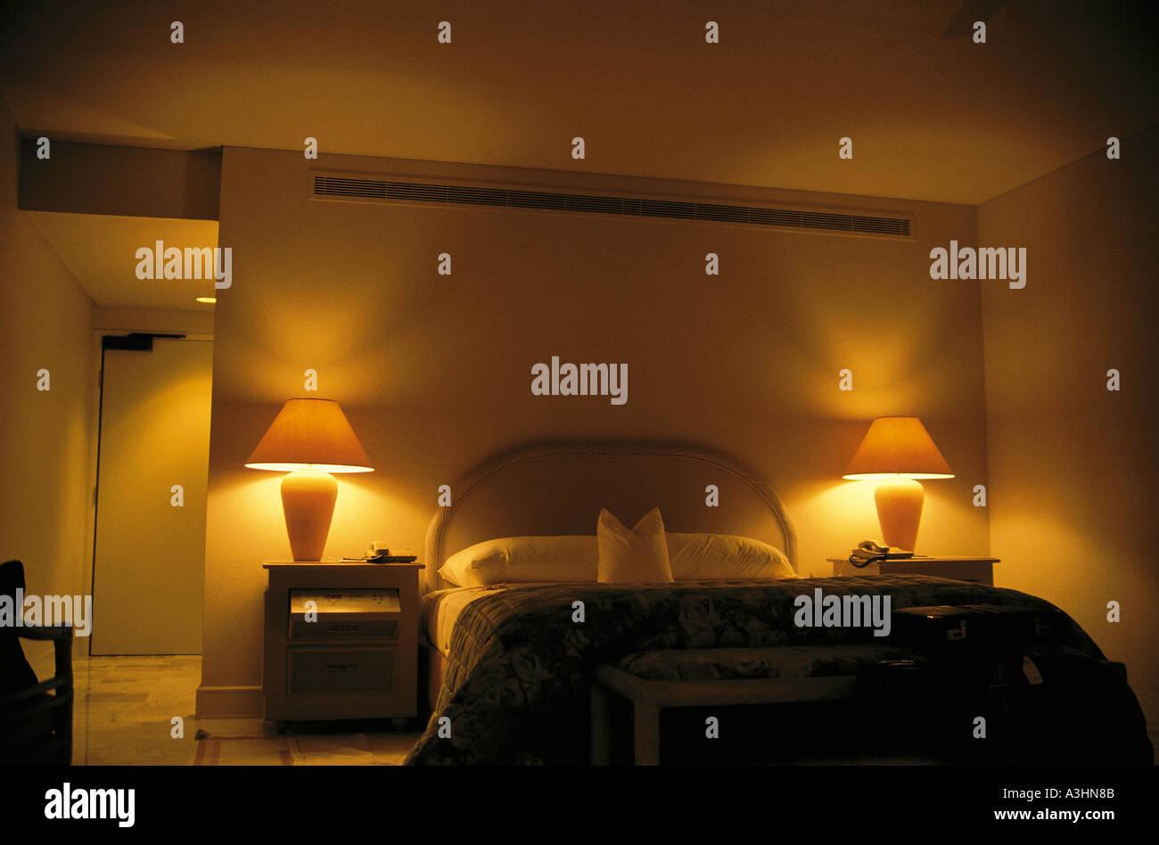 Zimmer des Hotels Stockbild