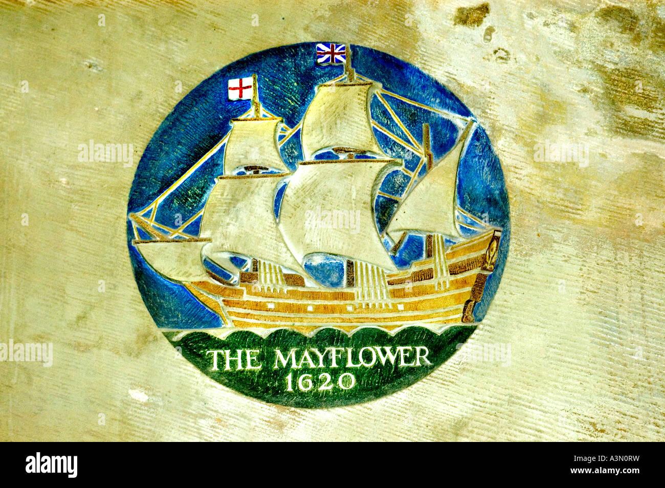 John Robinson Pastor Pilgerväter Pilger Vater Leiden Mayflower Pieterskerk (St.-Petri Kirche) Stockbild