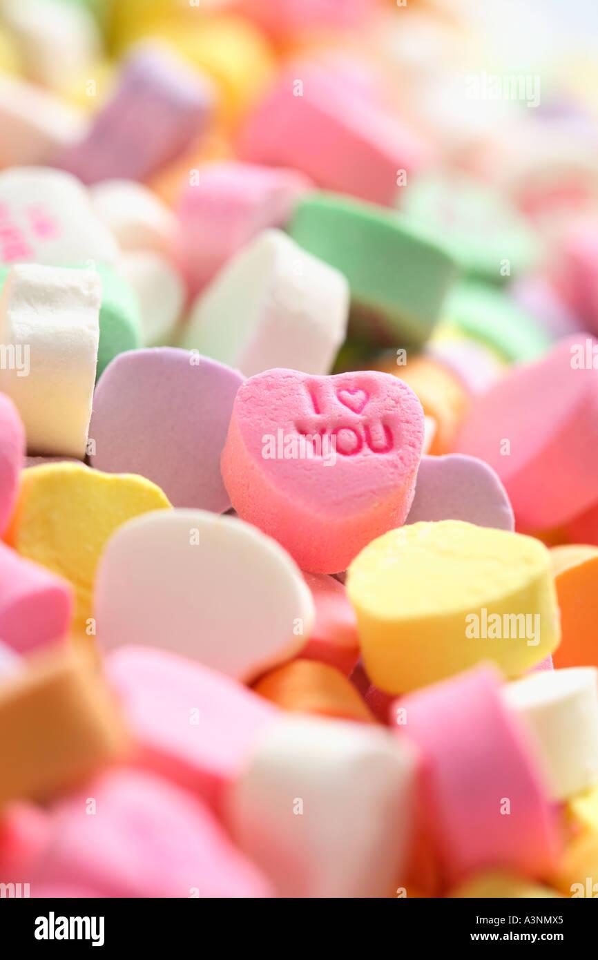 Ich liebe dich Candy Stockbild